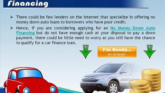 No Money Down Auto Loan Financing