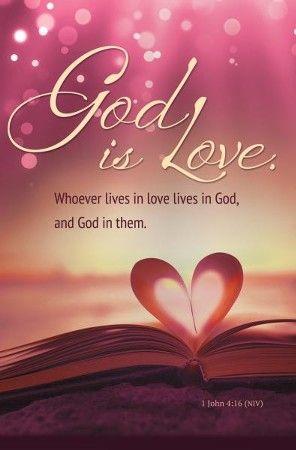 God is Love (1 John 4:16, NIV) Bulletins, 100