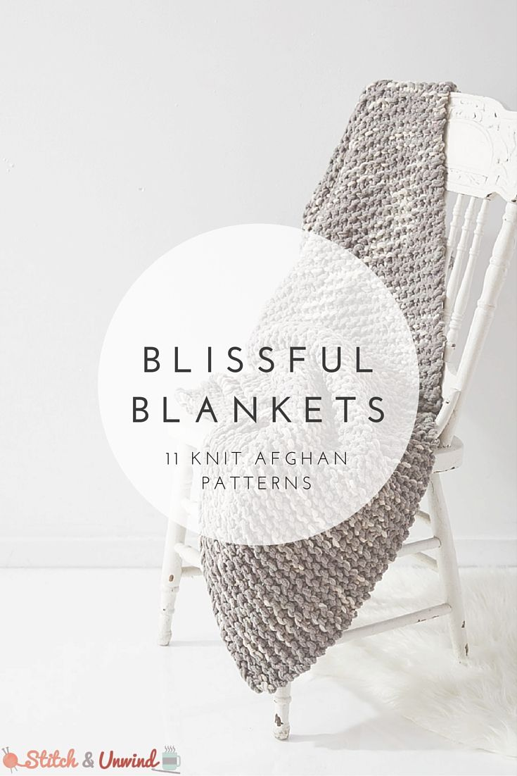 Blissful Blankets: 11 Knit Afghan Patterns