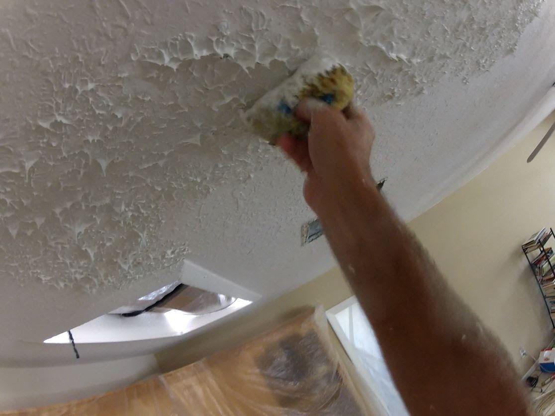 Knockdown Texture On A Ceiling Repair