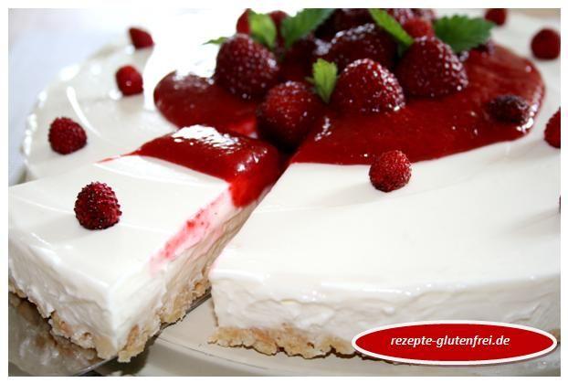 Glutenfreie Frischkäsetorte - Kühlschranktorte aus Schär Butterkeksen! www.rezepte-glutenfrei.de