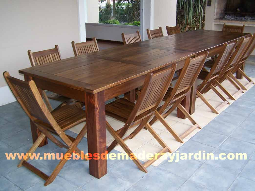 Mesas de madera mesas pinterest mesa de madera - Mesas de madera para jardin ...