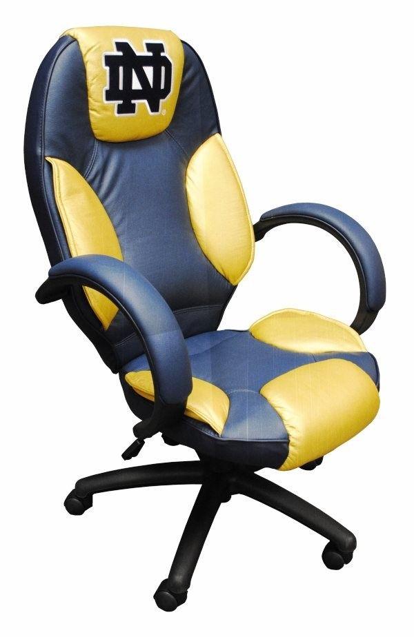 Notre Dame Fighting Irish Leather Desk/Office Executive Chair - Notre Dame Fighting Irish Leather Desk/Office Executive Chair