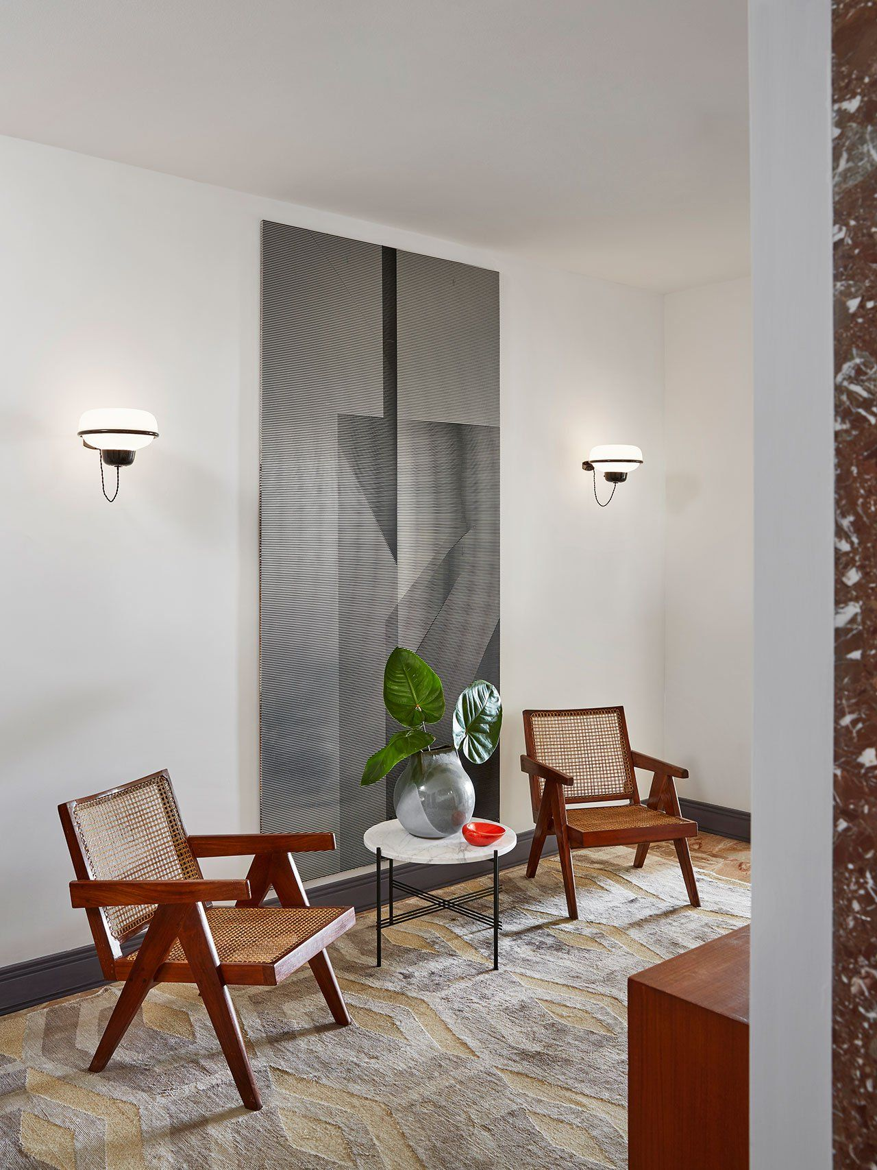 Contemporary hallway ideas  The Timeless Luxury of Grace Apartment in Monaco by Humbert u Poyet