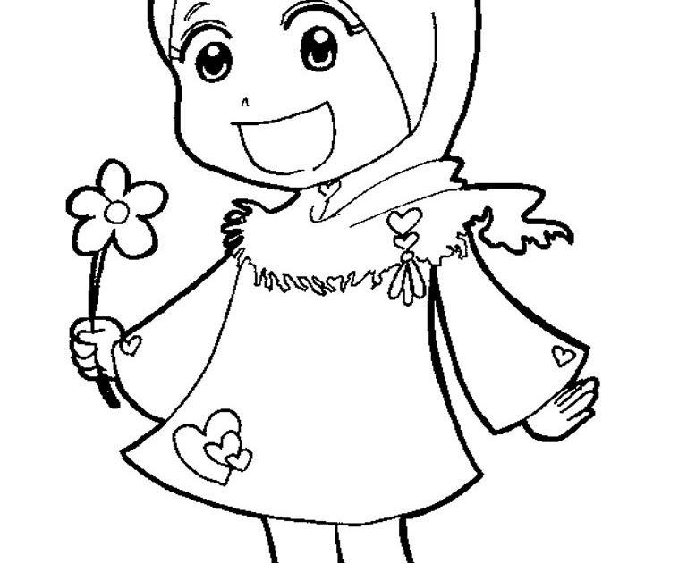 31 Gambar Kartun Muslim Untuk Diwarnai Di 2020 Dengan Gambar