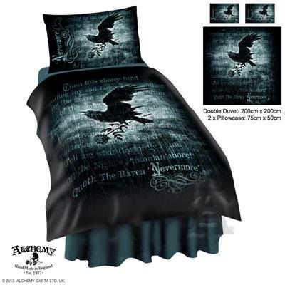 Lovely Alchemy Gothic Raven Bed Set Themed After Edgar Allen Poe S