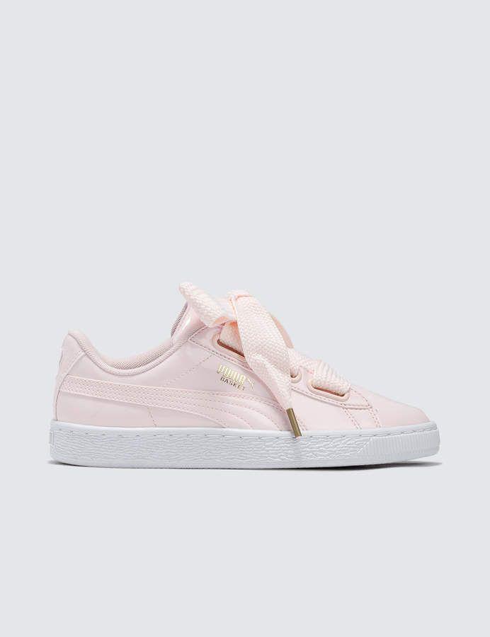 PUMA | Basket Heart Up Leather & Suede Sneaker | Nordstrom Rack