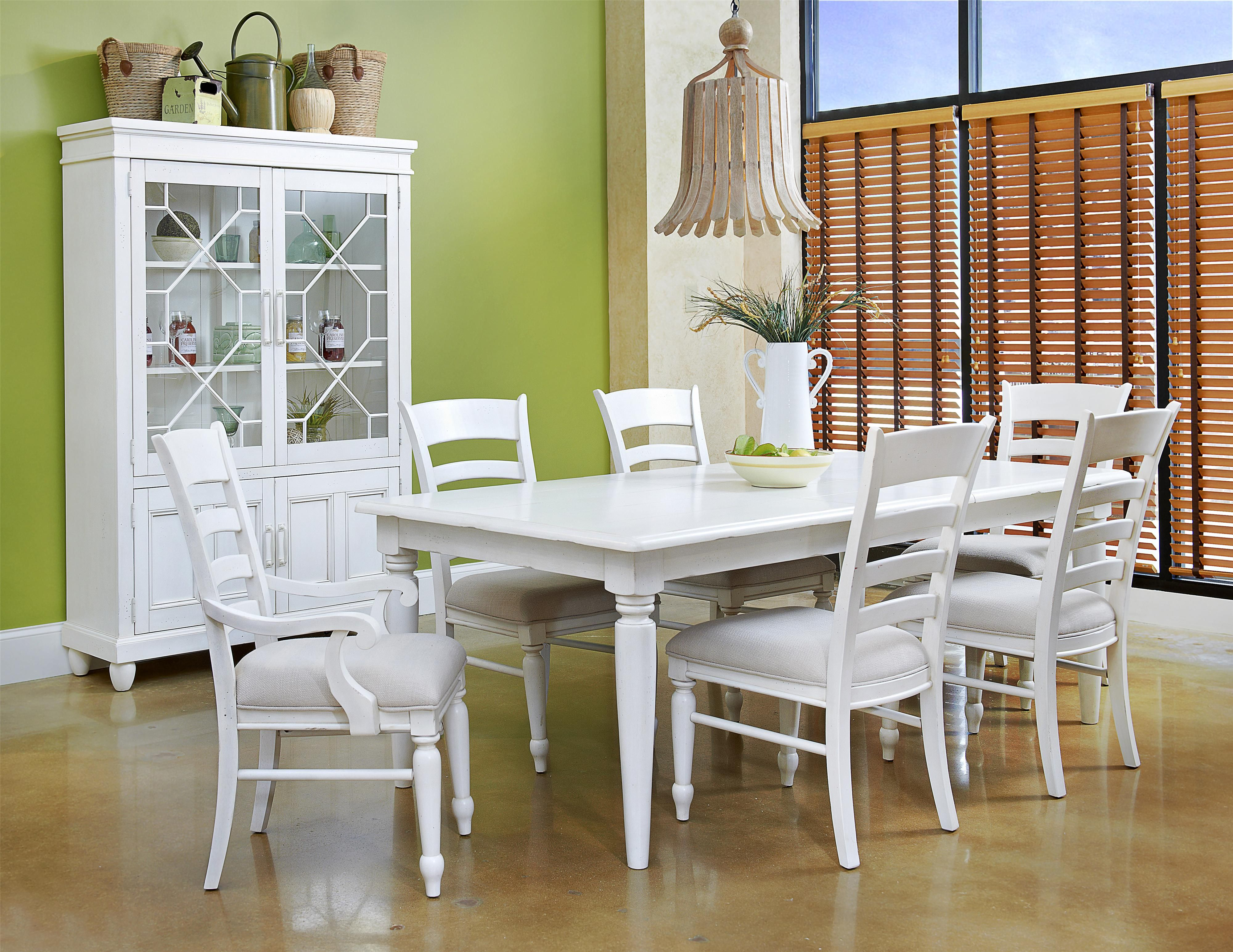 Collections 2fcarolina Preserves By Klaussner 2fsea Breeze 424 Drl B5 Extension Dining Table White Dining Room Sets Hillsdale Furniture