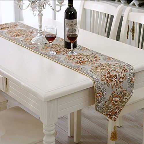 Milesky Embroidery Dining Table Runner Classic European S