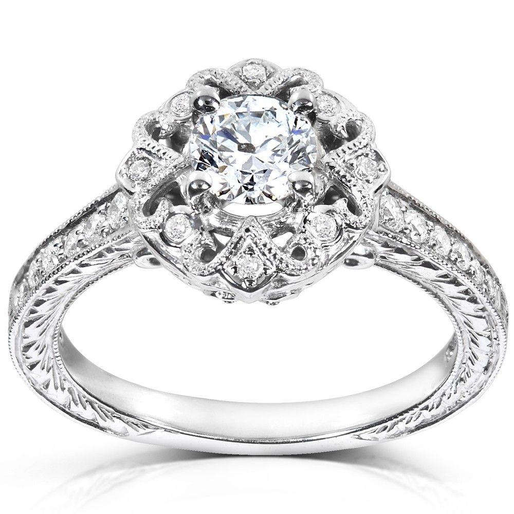 Annello by Kobelli 14k White Gold 1/2ct TDW Diamond