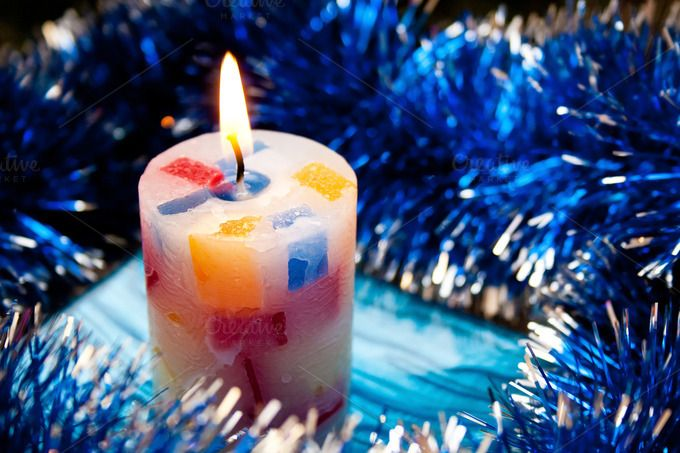 Christmas candle by TalyaPhoto on @creativemarket