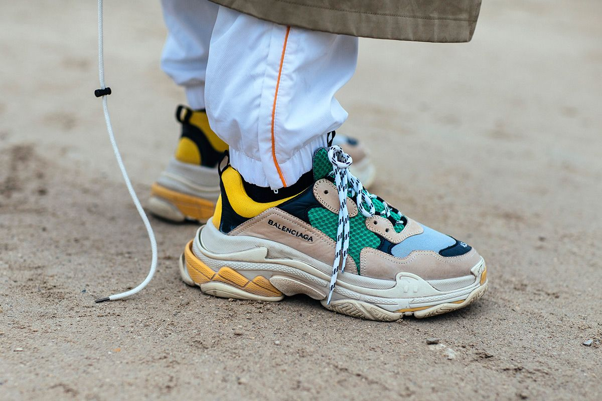 b15c357b678a The Balenciaga Triple S was dominating the streets of Paris during the  latest women s fashion week