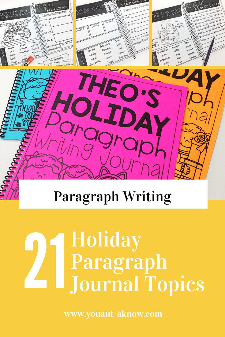 Paragraph Writing Journal Holiday Edition Paragraph Writing Special Education Classroom Elementary Special Education Classroom [ 1102 x 735 Pixel ]