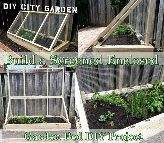 This step by step tutorial of how to build a screened enclosed garden bed diy project is a inexpensive garden structure that really tries hard to be pest and predator proof. This project will actually solve to common problems for city dwellers who want to garden, lack of space and rodent infestation. The plan -   22 enclosed garden beds ideas