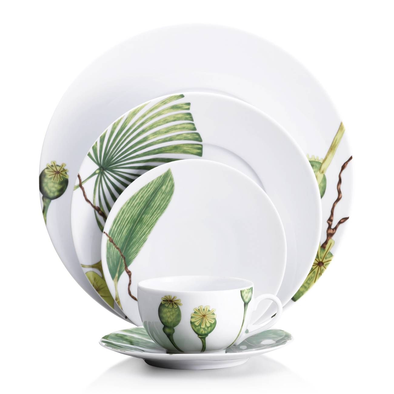 m dard de noblat ikebana dinnerware collection. Black Bedroom Furniture Sets. Home Design Ideas