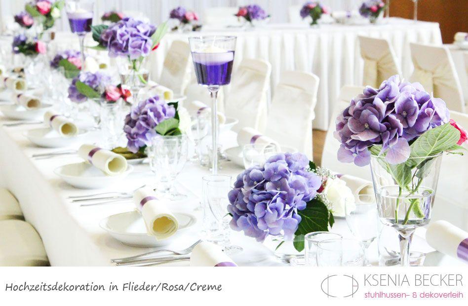 Blumendeko Hochzeit Flieder