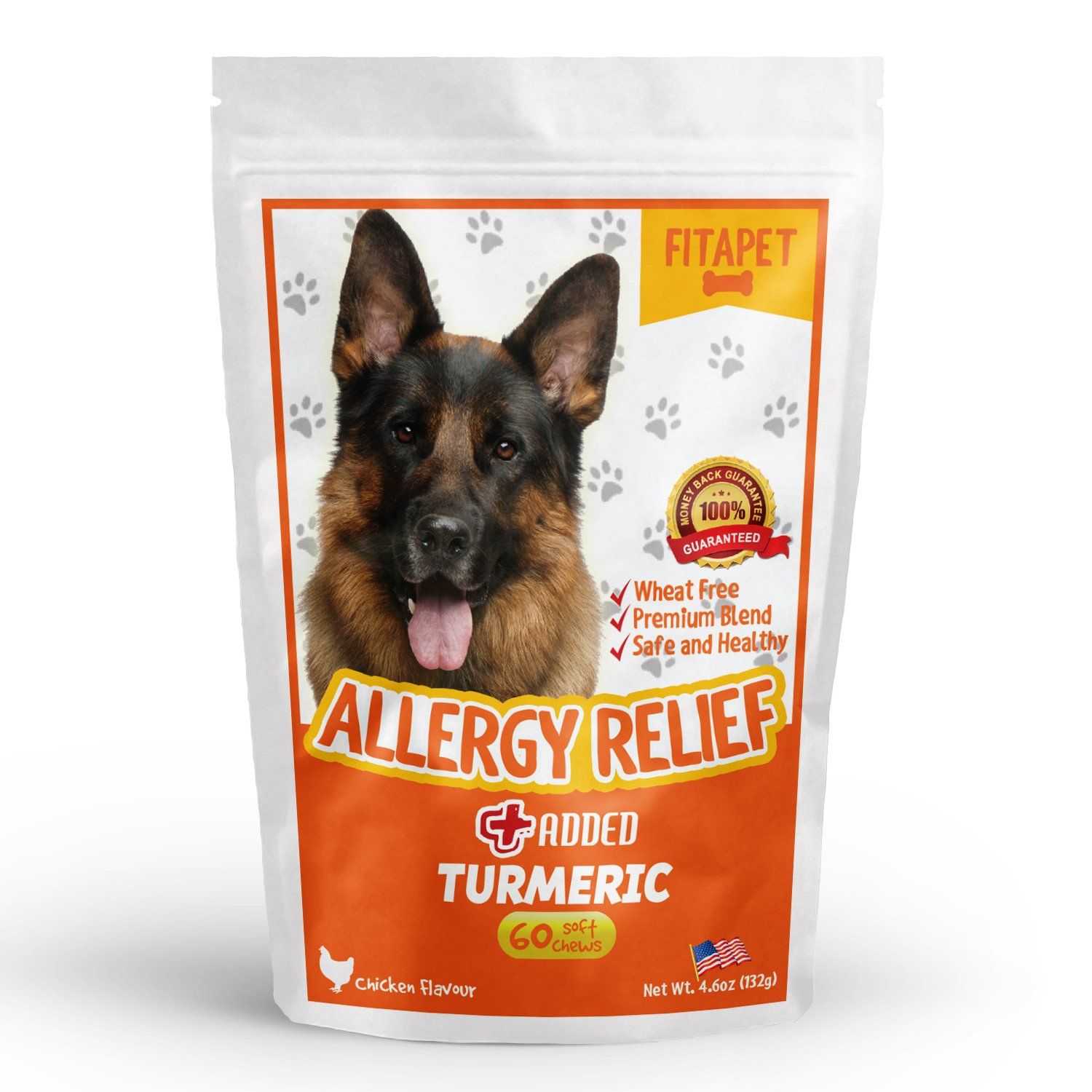 Fitapet Allergy Relief For Itchy Dogs With Turmeric Omega 3