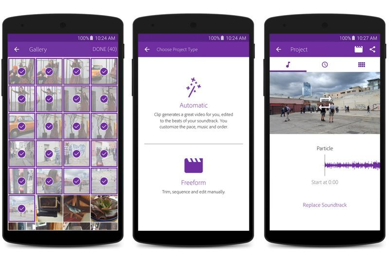 Adobe releases its first video editor for Android Adobe