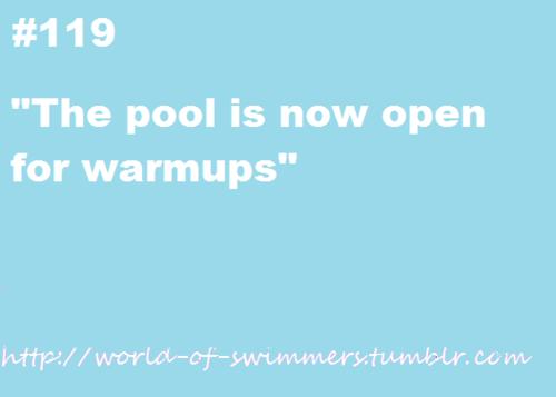 Let the swim games start