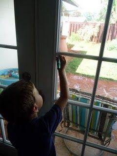Écrire dans les vitres