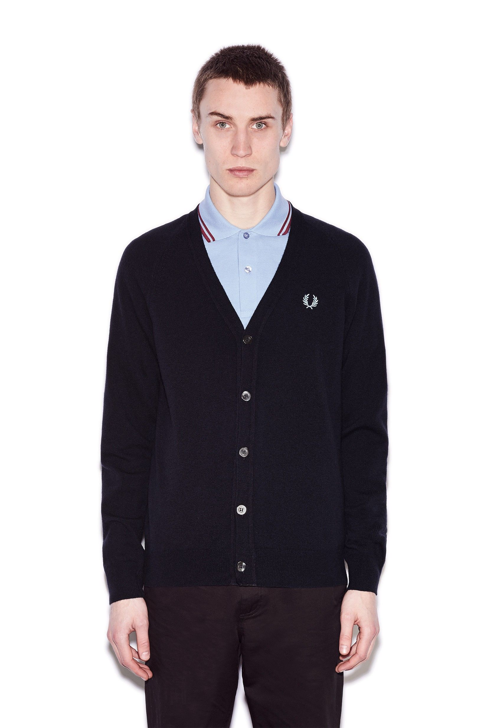 Fred Perry - Reissues Classic Cardigan Navy | Wardrobe [Mal ...