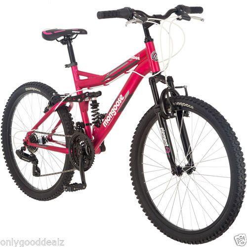 New Girls 24 21 Speed Mountain Bike Mongoose Ledge 2 1 Aluminum
