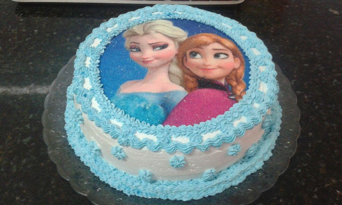 Bolo Frozen Beli Doces Doces E Artesanatos Elo7 Bolo Frozen Simples Bolo Frozen Bolo Aniversario Frozen