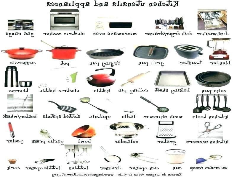 Kitchen Utensil Name List Belajar Di Rumah Ide Dapur Pendidikan