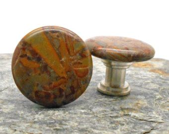Knobs, Stone Knobs, Cabinet Knobs, Small Honey Jasper Cabinet Knobs Or  Drawer Pulls