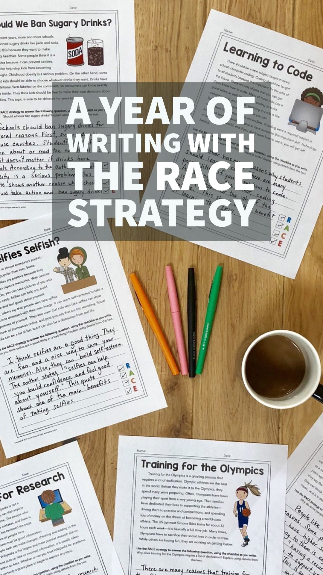 A Year Of Writing With The Race Strategy Grades 6 7 40