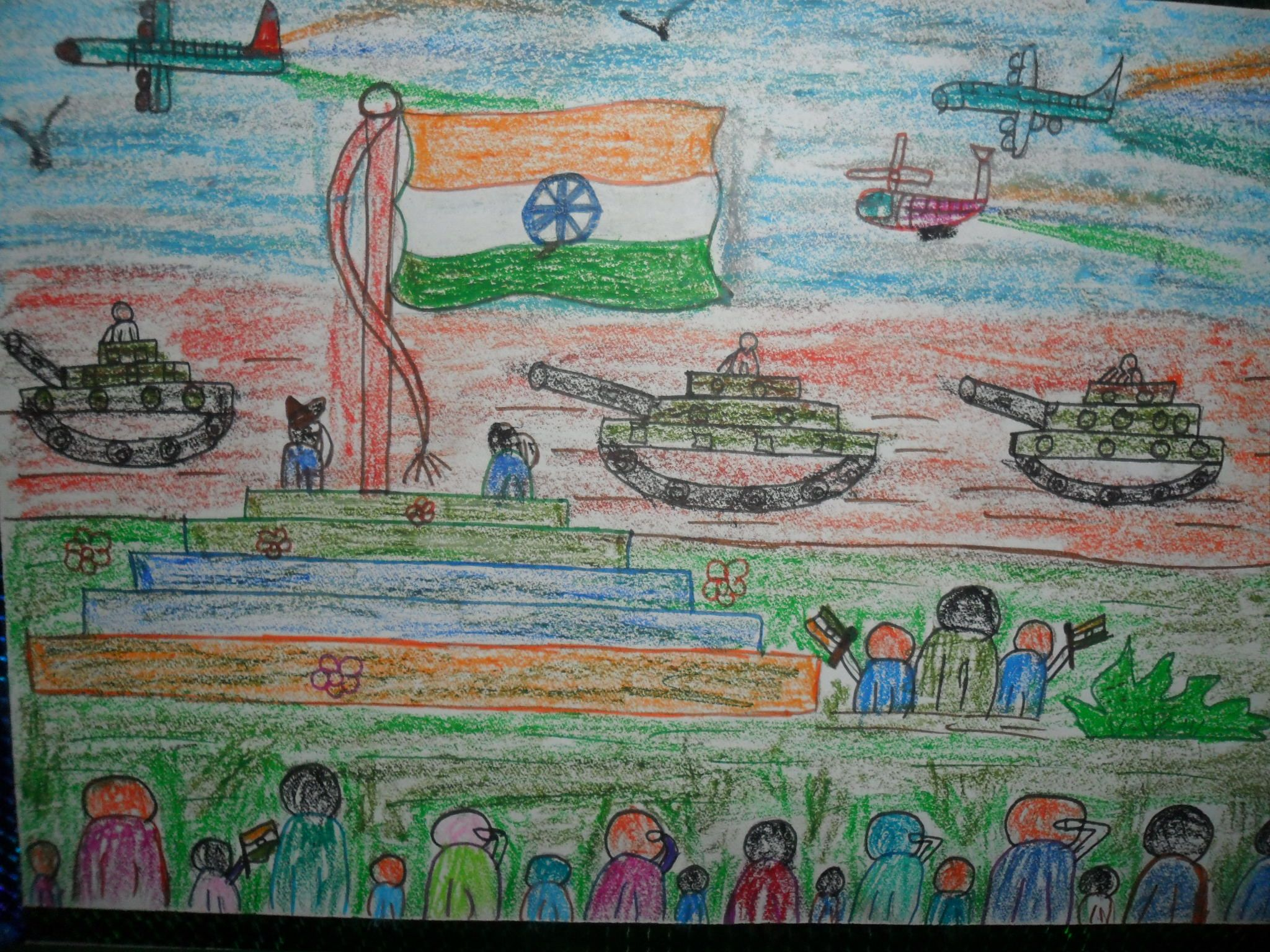Republic Day Of India Drawing Competition 2013 Drawing In 2019