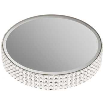 Round Mirror Rhinestone Candle Plate Small Candle Mirror Candle Plate Mirror Candle Holders