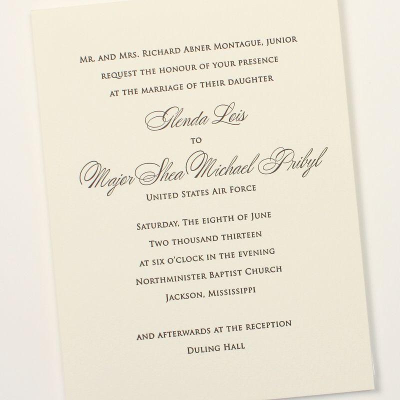 Fresh Ink Traditional Wedding Invitation Wedding Invitations - fresh invitation wording debut