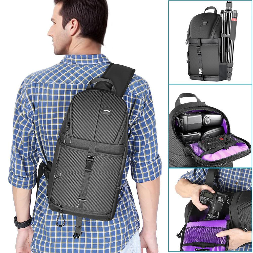 Waterproof Sling Camera Bag Dslr Bag Camera Storage Digital Camera Accessories