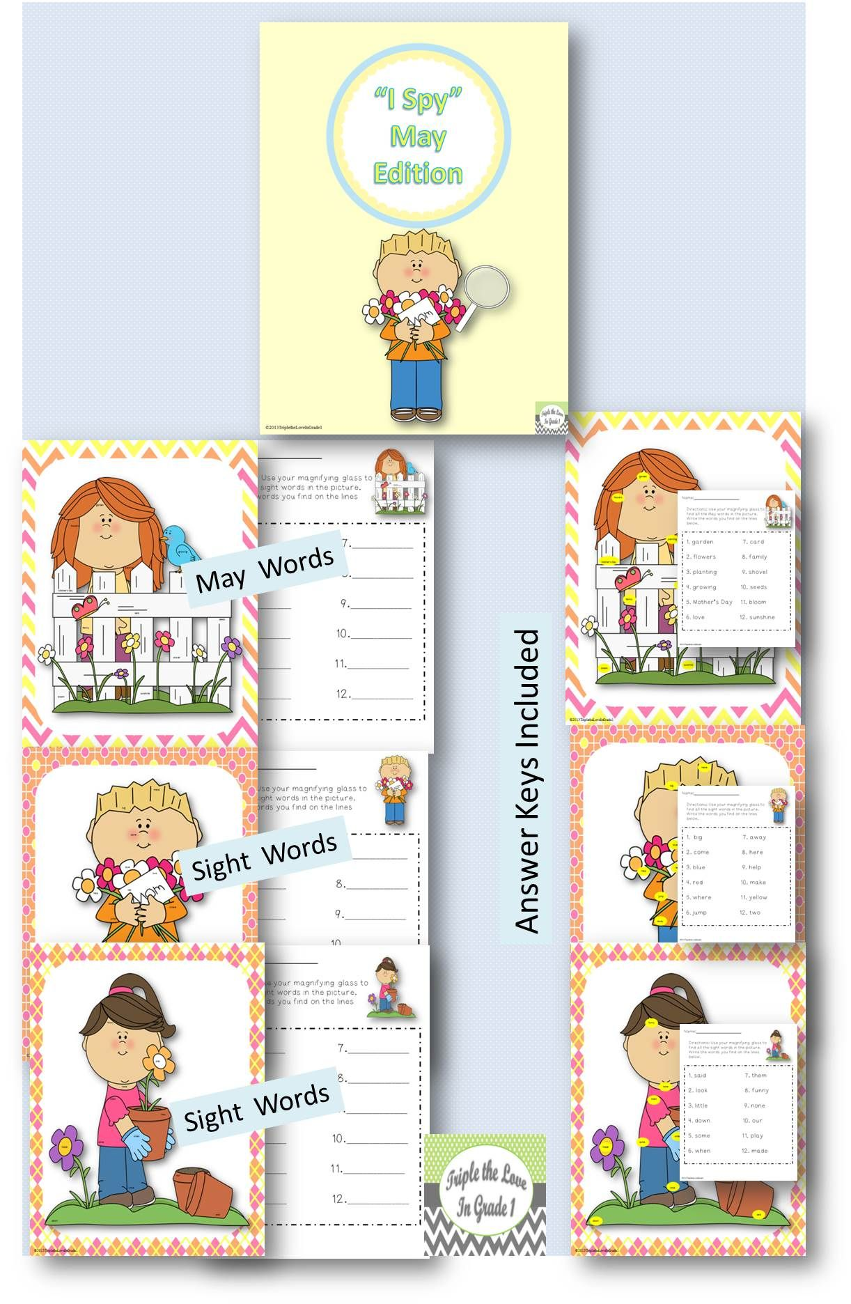 Look And Find May Edition May Words Amp Sight Words
