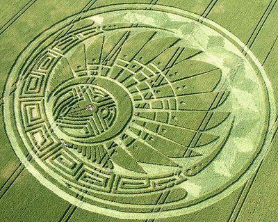 """Silbury Hill 2009. """"Quetzalcoatl headdress"""""""