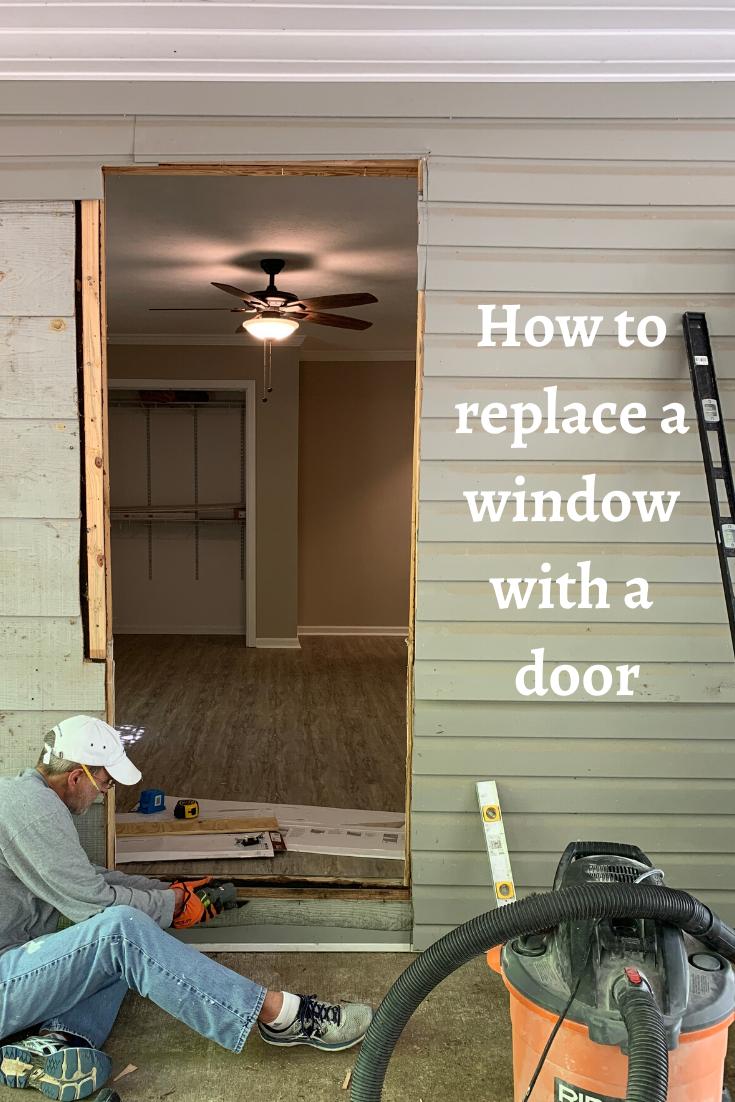 Replacing A Window With An Exterior Door In 2020 Installing Exterior Door Doors Replace Exterior Door