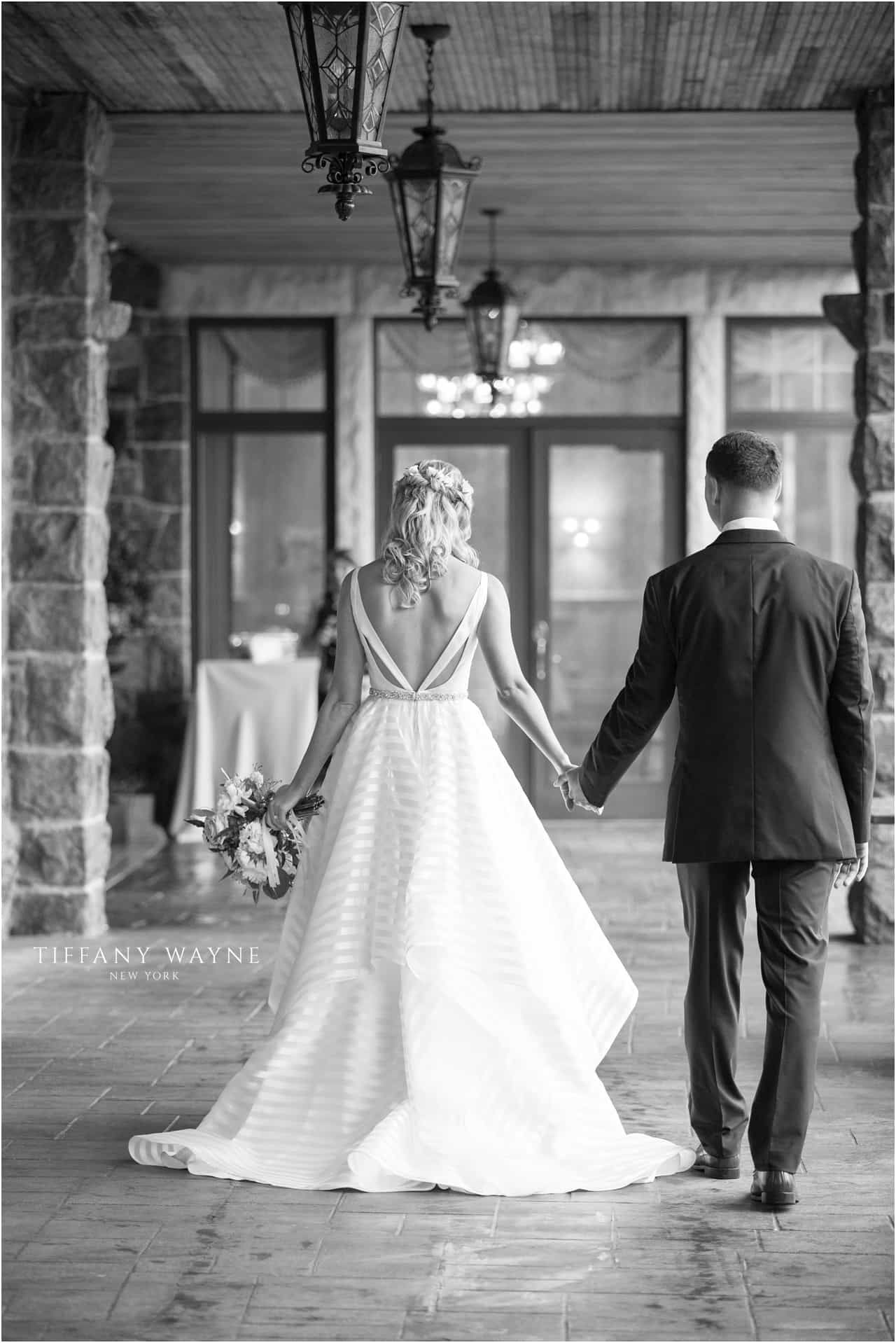 Bride and groom back and white wedding photography bride and groom