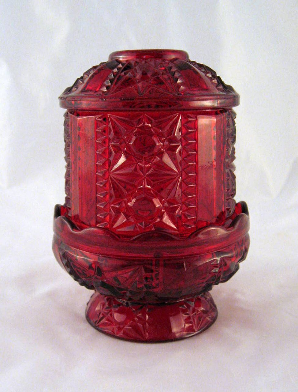 Indiana Glass Red Fairy Light Lamp Fairy Lamps In 2019