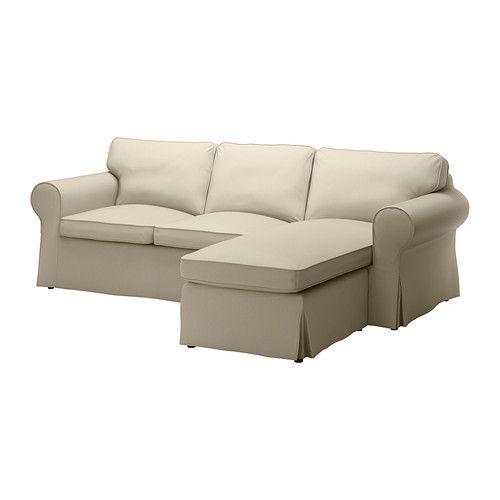 EKTORP Bezug 2er Sofa Mit Récamiere IKEA Leicht Sauber Zu Halten   Der  Abnehmbare Bezug