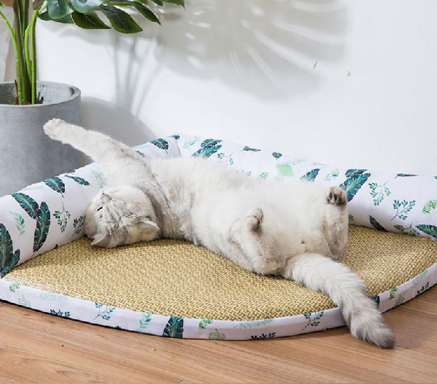 Summer Breathable Summer Mat Corner Cat Kennel Dog Kennel In 2021 Dog Kennel Cat Kennel Cotton Cat Bed