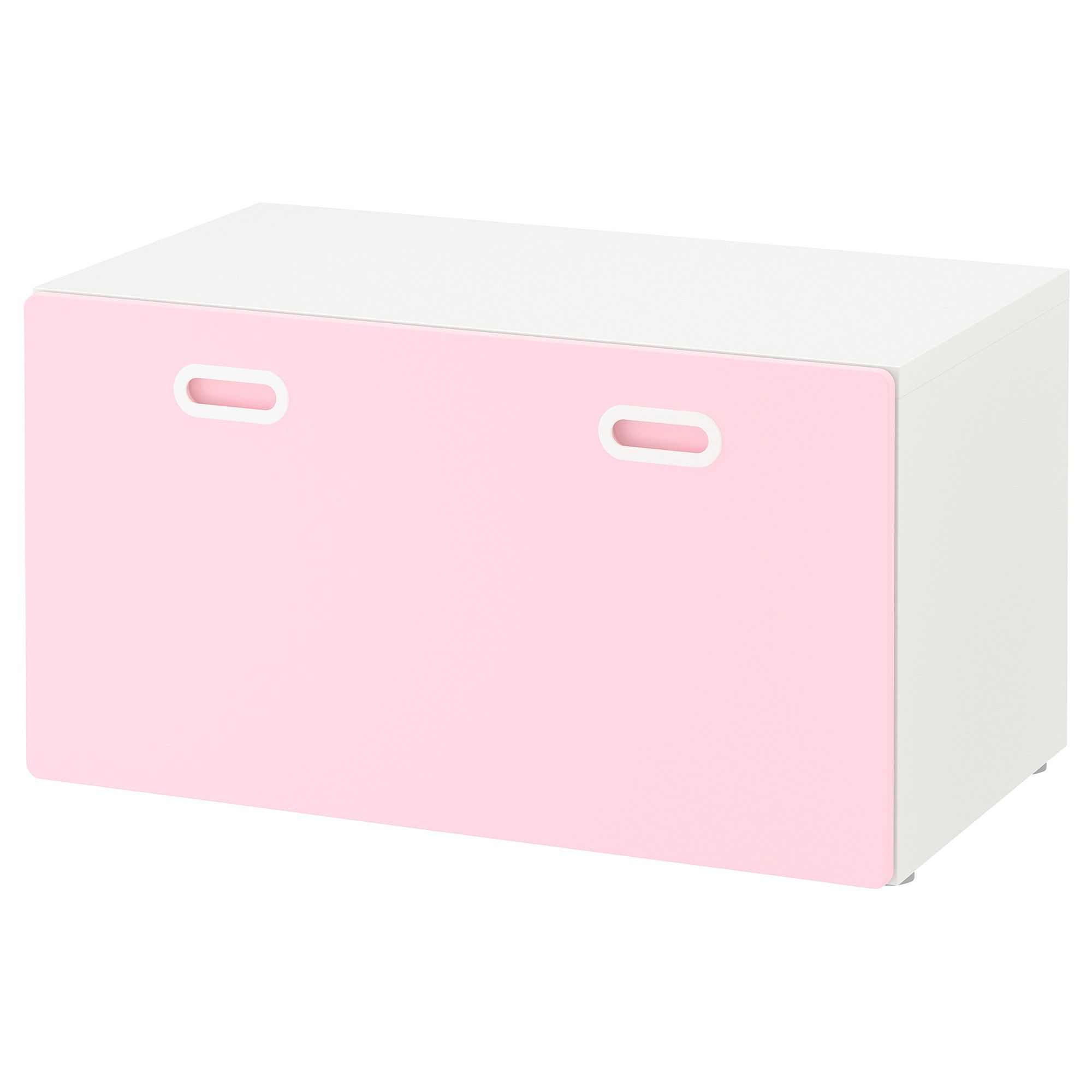 Stuva Fritids Bench With Toy Storage White Light Pink 35 3