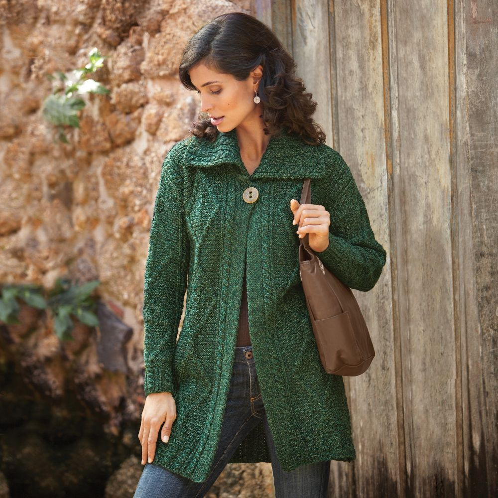 Irish Sweater Jacket | Aran sweaters Stitches and Irish