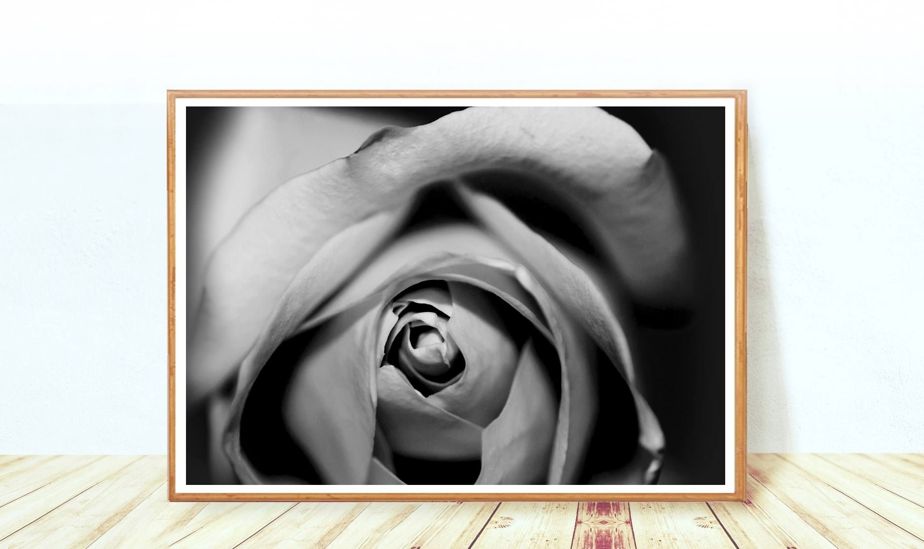 Black And White Flower Photography Roses Wall Art Floral Poster