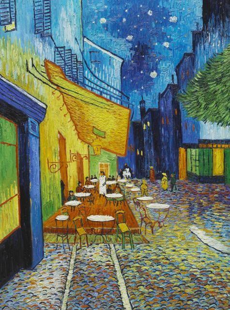 Van Gogh At Arles Com Ar Terraza De Café Por La