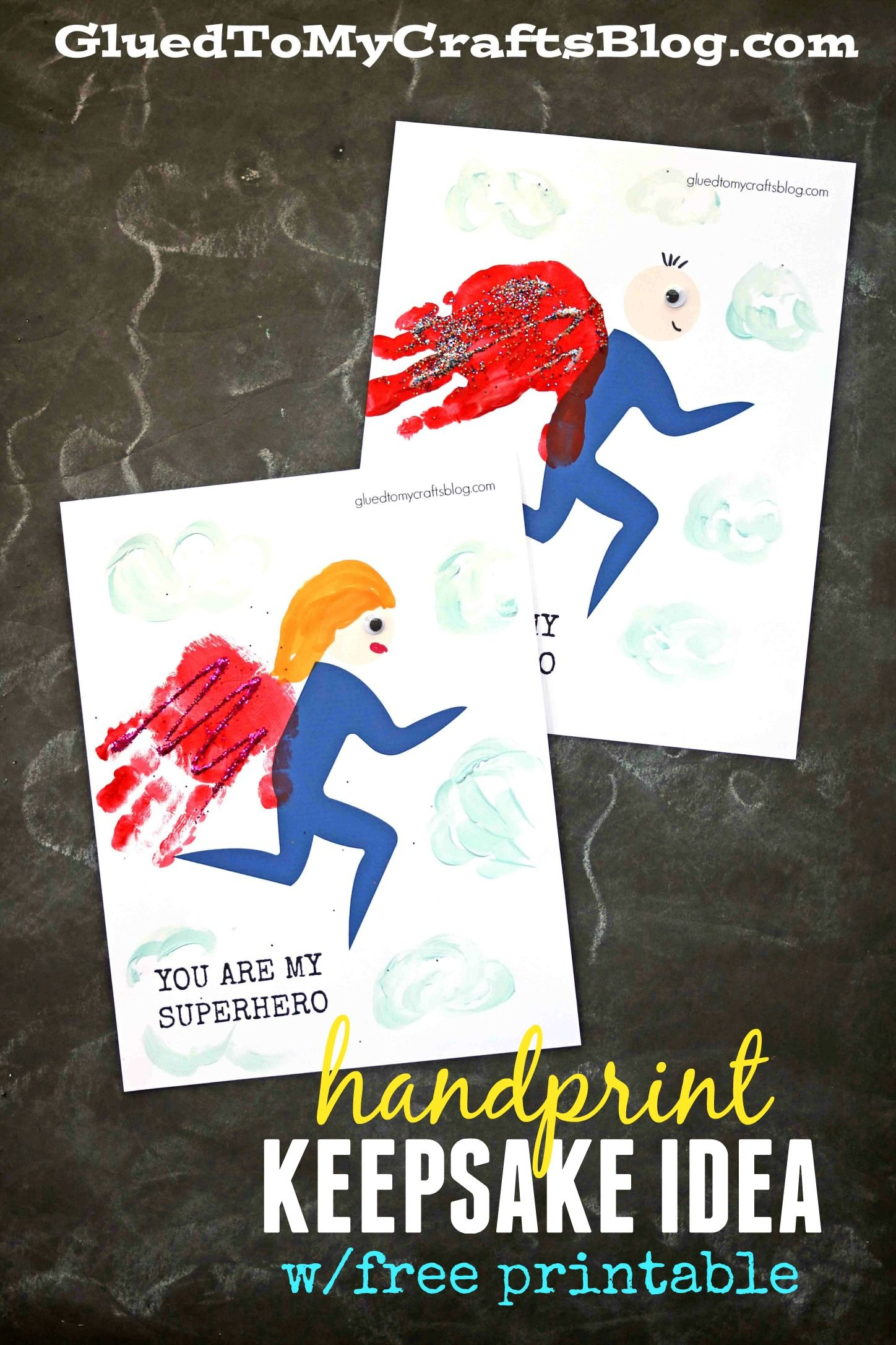 Handprint Superhero