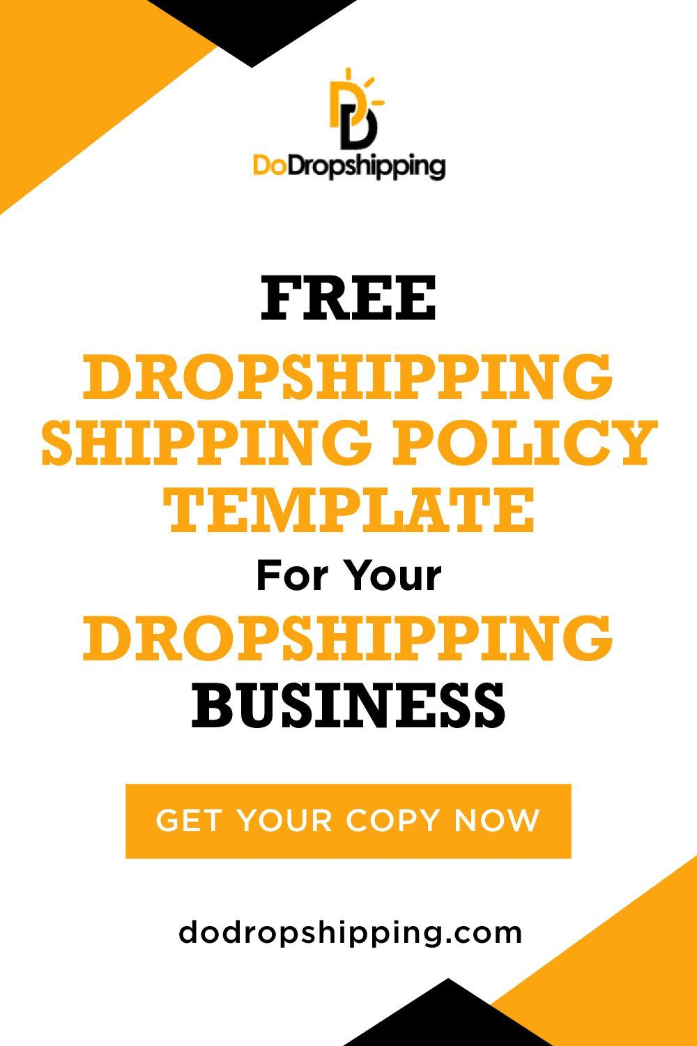 How To Create A Dropshipping Shipping Policy Template In 2021 Drop Shipping Business Ecommerce Startup Dropshipping