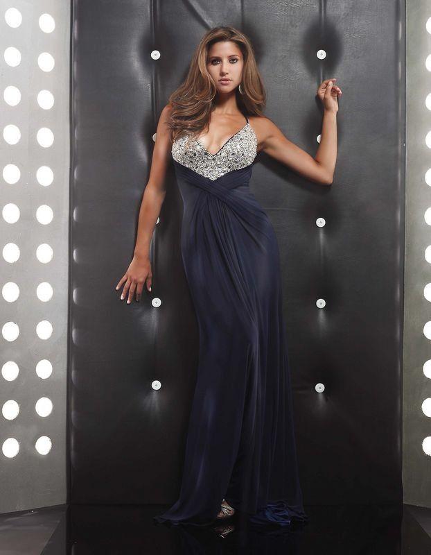 deep purple dress with shining beads