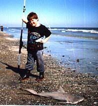 My son with a shark!  http://www.InTheWind.org