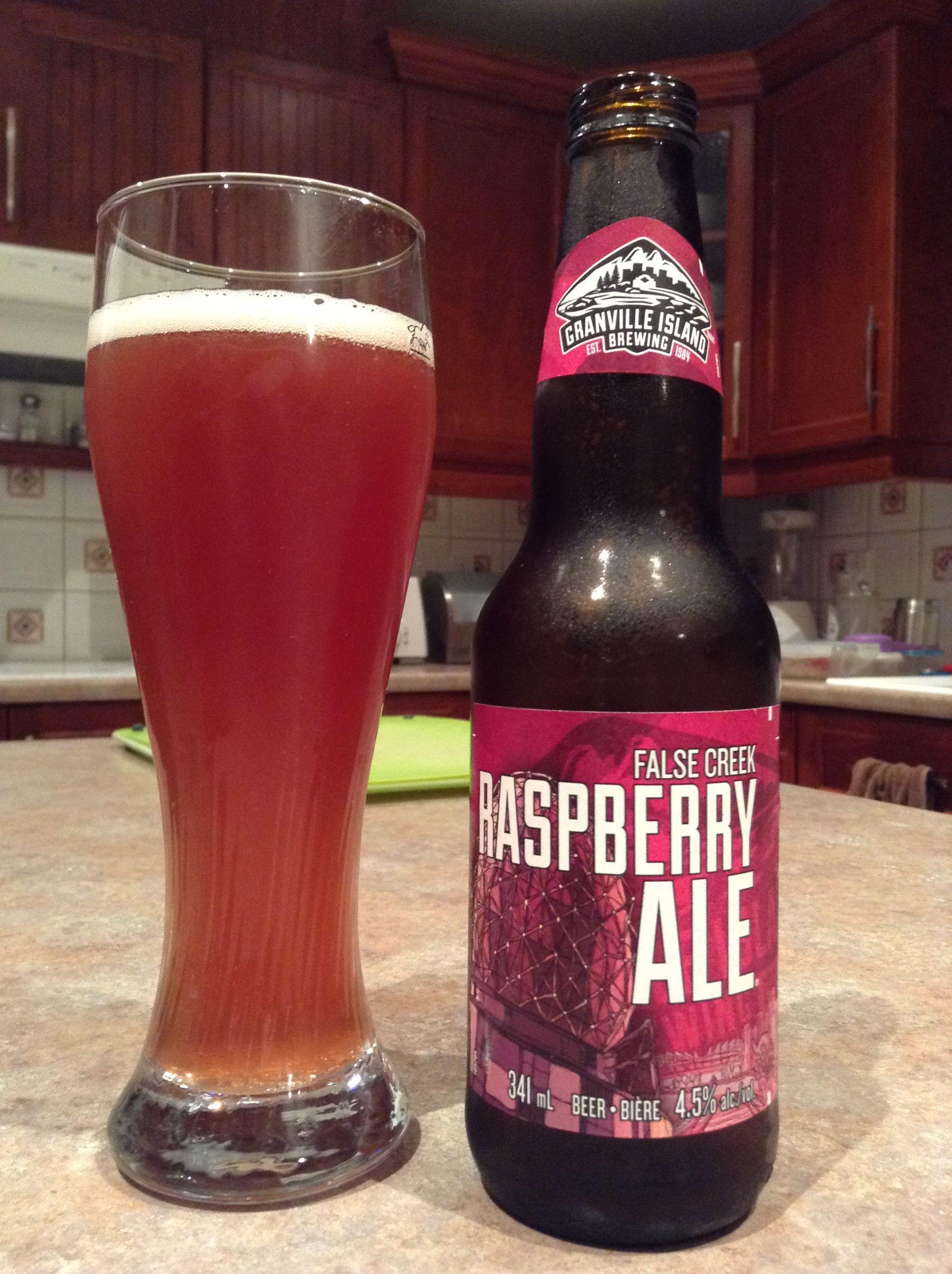 2015 Vancouver Granville Island Rasberry Ale Granville Island Beer Ale